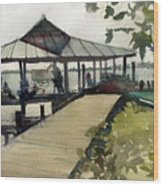 Boardwalk Sarasota Wood Print