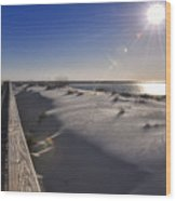 Boardwalk To The Gulf Wood Print