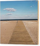 Boardwalk To The Ocean Wood Print
