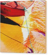 Boat Abstract Wood Print