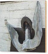 Boat Anchor Wood Print
