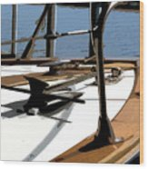 Boat Anchor Wood Print