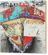 Boat Dalia, Puerta Vallarta, Mexico Wood Print