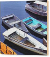 Boat Dock Camp Ellis Wood Print