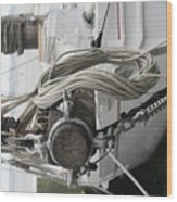 Boat Docked In St. Michael Wood Print