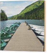 Boat Fun At Silver Lake Wood Print