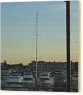 Boat Harbor Wood Print