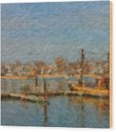 Boat Harbor Province Town Wood Print