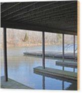 Boat House At Sweet Briar Wood Print