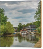 Boat House Row Two Wood Print