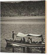 Boat - Lago De Coatepeque, El Salvador Wood Print