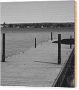 Boat Landing Wood Print