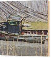 Boat N Buoys Wood Print