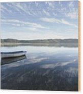Boat On Knysna Lagoon Wood Print