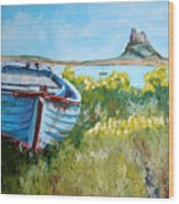 Boat On Lindisfarne. Wood Print