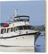 Boat On Pellicer Creek Wood Print