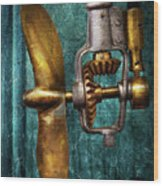 Boat - Propulsion  Wood Print by Mike Savad