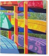 Boat Rack Wood Print