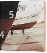 Boat Reflection 2 Wood Print