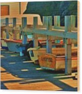 Boat Ride Wood Print by Helen Carson