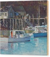 Boat Shack Wood Print