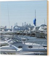 Boat Show On The Bay Wood Print
