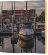 Boat Slip Wood Print