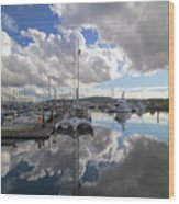 Boat Slips At Anacortes Cap Sante Marina In Washington State Wood Print