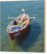 Boat Small Rovinj Croatia Wood Print