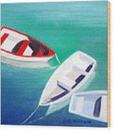 Boat Trio Wood Print