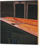 Boat Venice Italy Wood Print