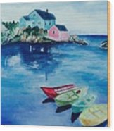 Boaters Paradise Wood Print