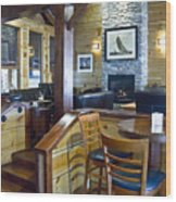 Boathouse Restaurant Wood Print by Michael Rutland