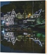 Boathouse Row Eight By Ten Wood Print