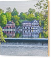 Boathouse Row - Framed In Spring Wood Print