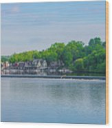 Boathouse Row From Mlk Drive - Philadelphia Wood Print