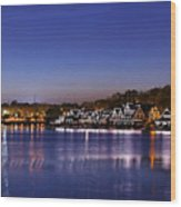 Boathouse Row Philly Wood Print