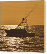 Boating And Fishing Wood Print