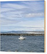 Boating At Bandon Wood Print