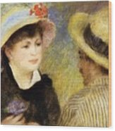 Boating Couple Aline Charigot And Renoir 1881 Wood Print