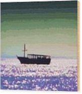 Boating Home Wood Print by Deborah MacQuarrie-Selib