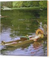Boating Scene At Maidenhead Sir John Lavery Wood Print