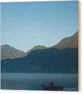 Boatman Lake Atitlan Guatemala Wood Print