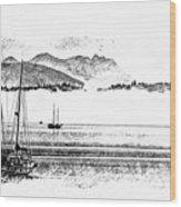 Boats Afloat Wood Print