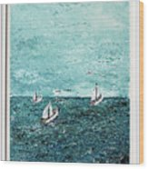 Boats And Birds Wood Print