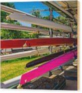 Boats At Dallas Rowing Club Wood Print