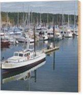 Boats At Friday Harbor Wood Print