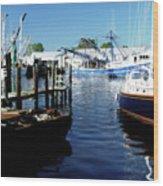 Boats At Orental Wood Print