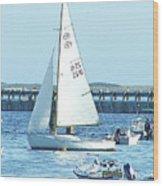 Boats At Provincetown Wood Print