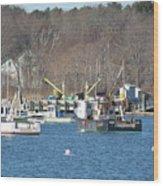 Boats At Rye  Harbor, Nh  Wood Print